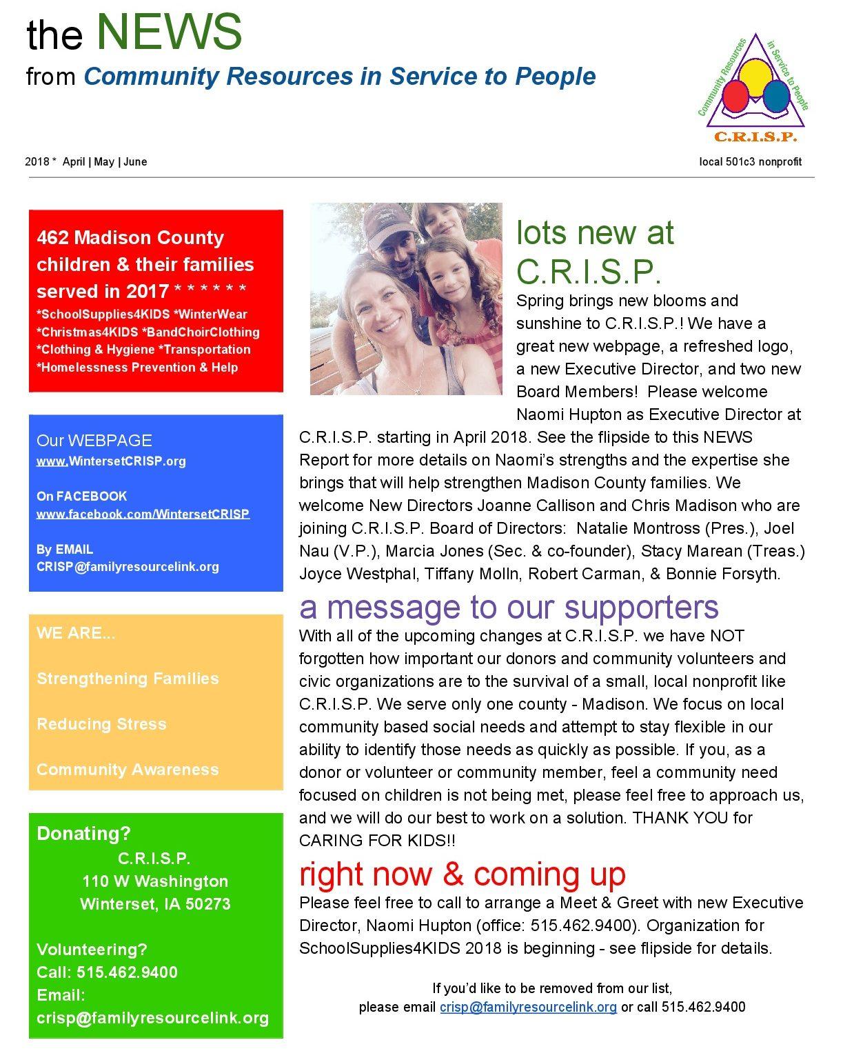 C.R.I.S.P. Newsletter